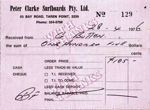 peter clark receipt